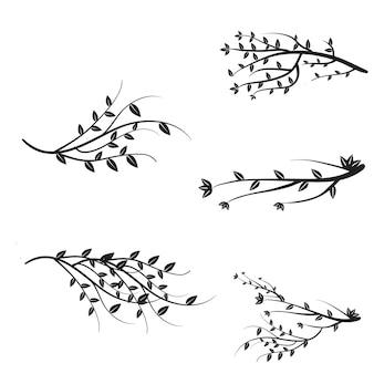 Vector ramas colección