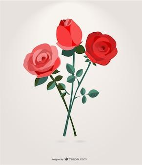 Vector de ramo de rosas