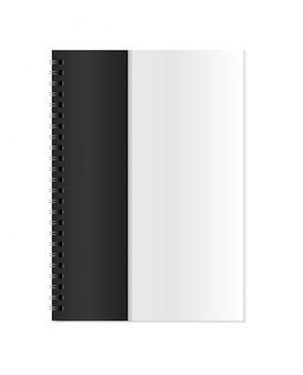 Vector realista cerrado cuaderno maqueta