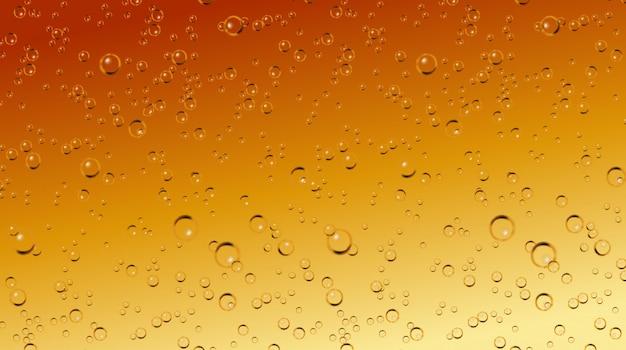 Vector realista cerveza, refrescos, burbujas de champán