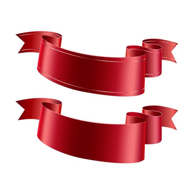 Vector realista conjunto de cinta ondulada