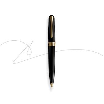 Vector realista de pen exclusivo