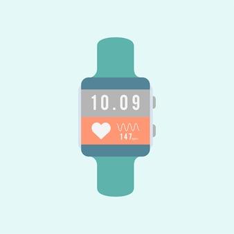 Vector de reloj inteligente