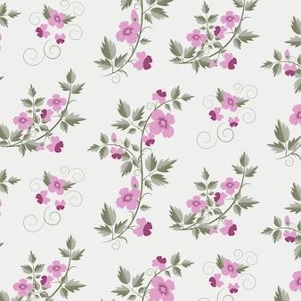 Vector retro patrón floral con flores
