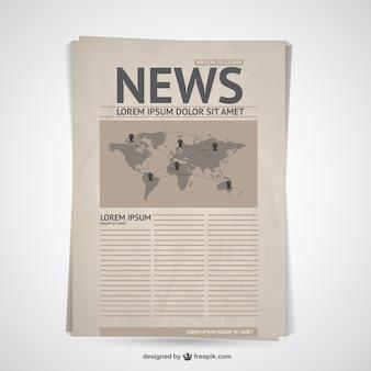 Vector retro de periódico