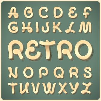 Vector retro tipografía