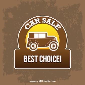 Vector retro de venta de coches