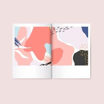 Vector de la revista de diseño colorido de memphis