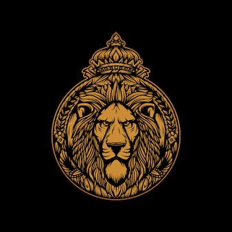 Vector de rey león