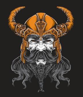 Vector del rey vikingo