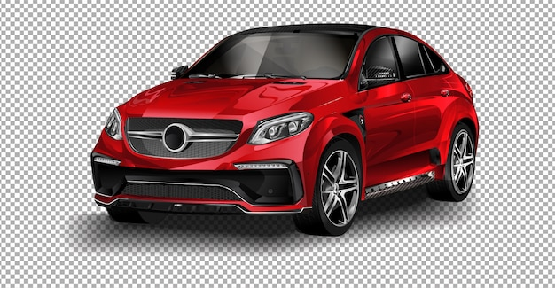 Vector rojo mercedes-benz.