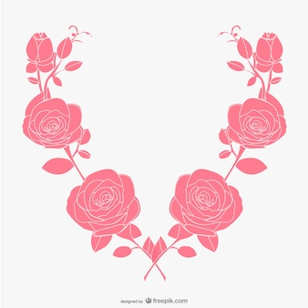 Vector de rosas artísticas