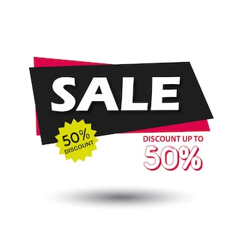 Vector sale banner graphic illustration