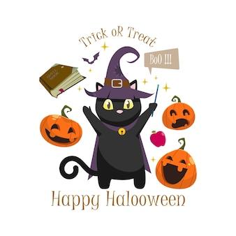Vector de saludo de halloween
