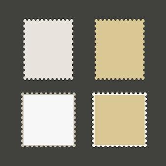 Vector de sellos postales en blanco