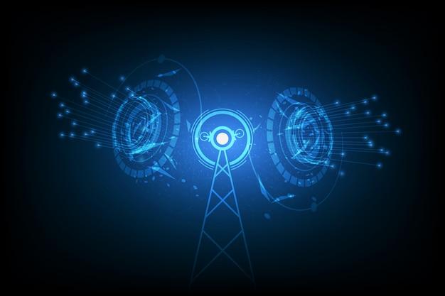 Vector de señal de internet spot, tecnología de comunicación de antena.