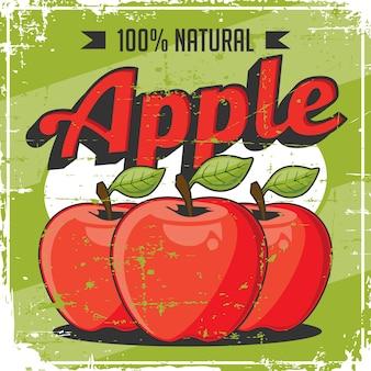 Vector de señalización vintage apple vintage