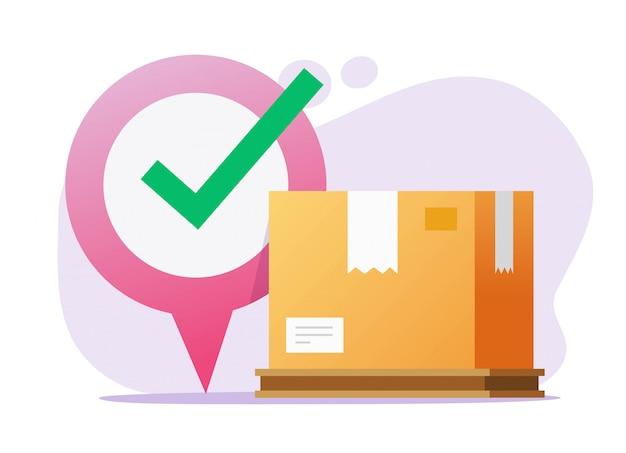 Vector de servicio de entrega de destino en línea de mensajería de carga logística