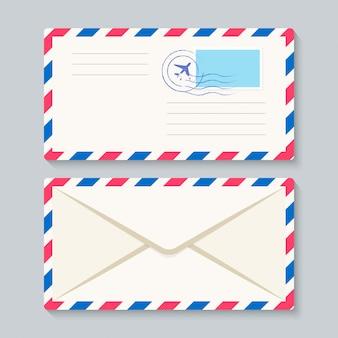 Vector de sobre de correo aéreo