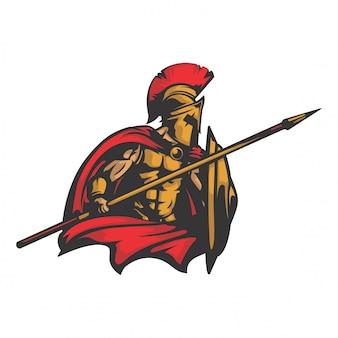 Vector de sparta rey