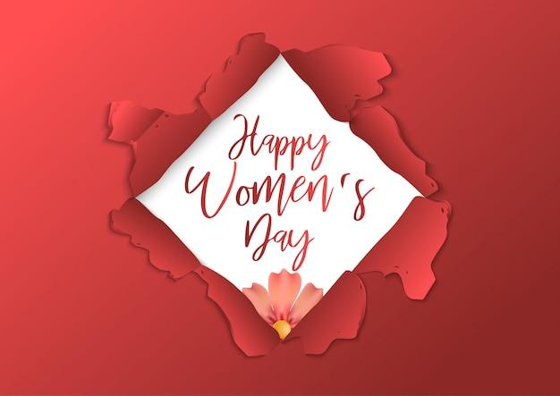 Vector stock plantilla del cartel del día internacional de la mujer
