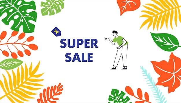 Vector de super venta de verano