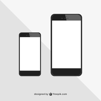 Vector tamaños de iphones