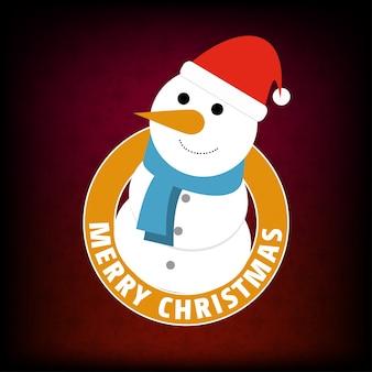 Vector de tarjeta de deseos de navidad y año nuevo con santa