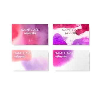 Vector de tarjeta de estilo acuarela colorida