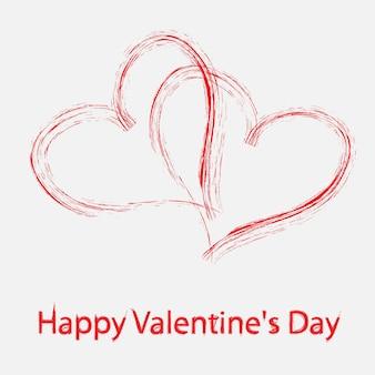 Vector tarjeta de felicitación del día de san valentín
