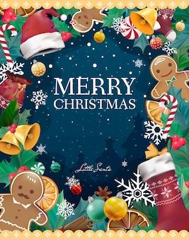 Vector de tarjeta de felicitación de navidad