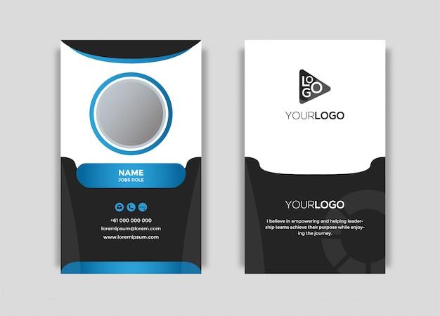 Vector de tarjeta de negocios moderno elegante