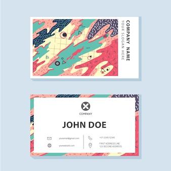 Vector de la tarjeta de visita de la compañía del estilo de memphis