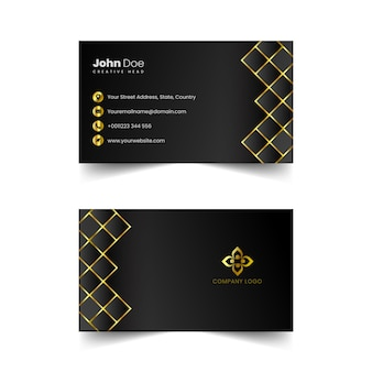 Vector de tarjeta de visita profesional dorada