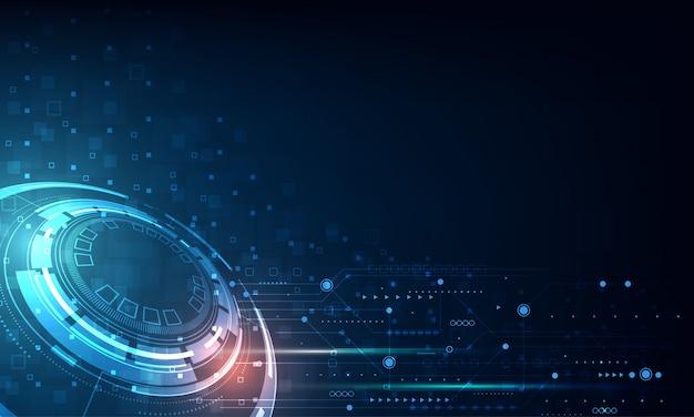Vector tecnología círculo y fondo de tecnología