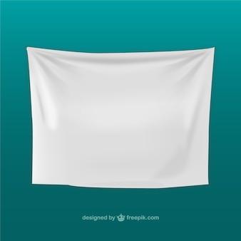 Vector de tela blanca