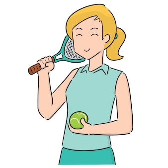 Vector de tenista