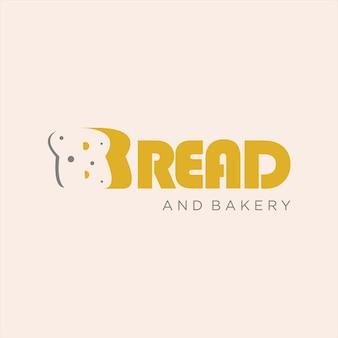 Vector de tipografía de pan de diseño de logotipo de panadería