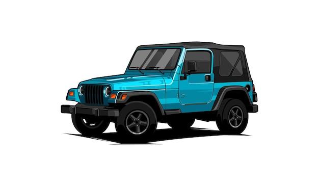 Vector todoterreno jeep