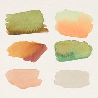 Vector de trazos de pincel acuarela colorida