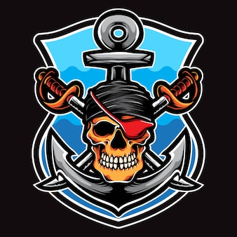 Vector de tripulación pirata