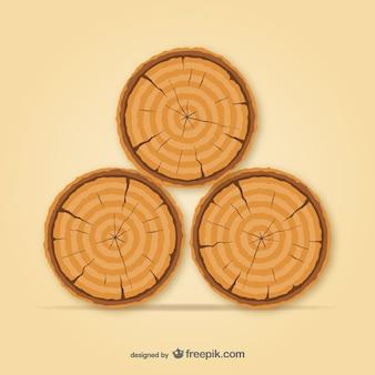 Vector troncos de árbol