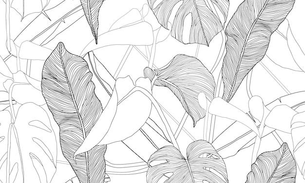 Vector tropical de patrones sin fisuras plantas exóticas
