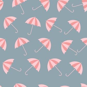 Vector umbrella inconsútil modelo lluvia