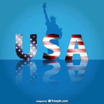 Vector usa con letras