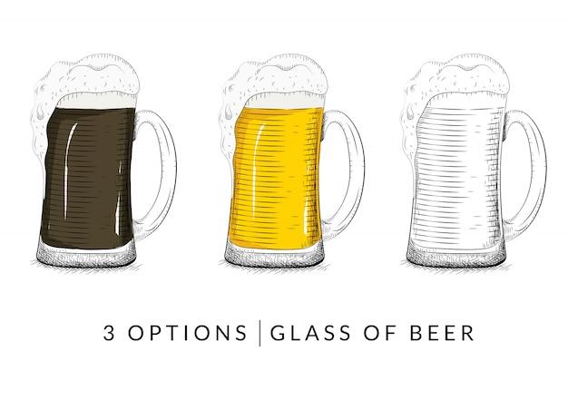 Vector de vaso de cerveza