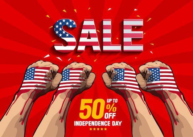 Vector de venta del día de la independencia