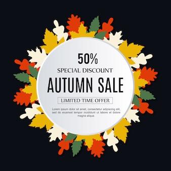 Vector venta otoño fondo