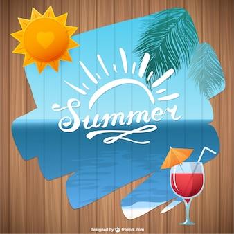 Vector de verano con mar