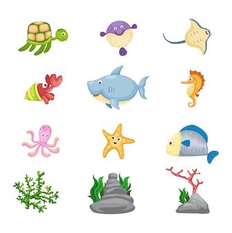 Vector de vida marina